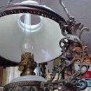 Antigüedades: ANTIGUA LAMPARA QUINQUE SUBE BAJA S.XIX. Lote 124117540