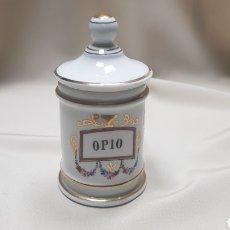Antigüedades: ALBARELO O TARRO DE FARMACIA OPIO 12CM ALTO. Lote 124134180