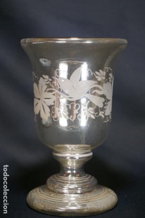 Antigüedades: COPA. VASO. CRISTAL AZOGADO, GRABADO. GRANJA O BOHEMIA. SIGLO XIX. - Foto 17 - 124138791
