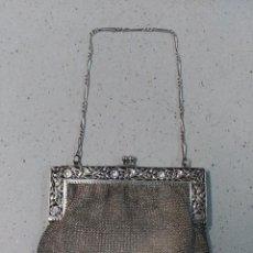 Antigüedades: BOLSO DE MALLA EN PLATA SIGLO XIX. Lote 124139883