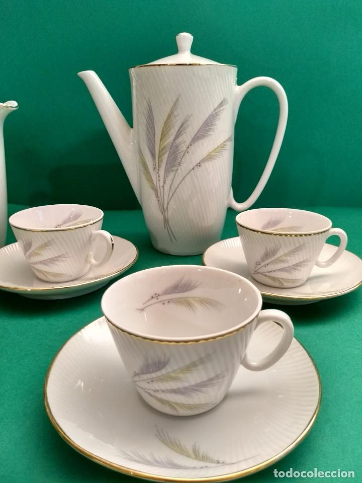 Antigüedades: Juego de Café Vintage (24 piezas) Santa Clara MAH Vigo Decoración vegetal y filo de oro - Foto 4 - 124142363