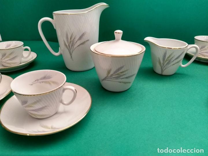 Antigüedades: Juego de Café Vintage (24 piezas) Santa Clara MAH Vigo Decoración vegetal y filo de oro - Foto 5 - 124142363
