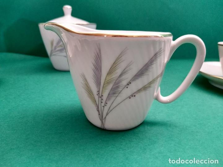 Antigüedades: Juego de Café Vintage (24 piezas) Santa Clara MAH Vigo Decoración vegetal y filo de oro - Foto 7 - 124142363