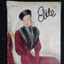 Antigüedades: REVISTA ELITE Nº 60 INVIERNO 1939. TEXTO EN FRANCÉS.. Lote 124146291