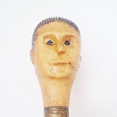 Antigüedades: ANTIGUO BASTÓN CON CABEZA DE HOMBRE. Lote 124150075