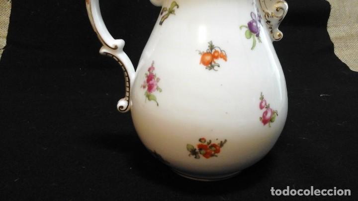 Antigüedades: Tetera pintada a mano ,finales siglo XIX . Marcada Tiefenfurt (germany) - Foto 9 - 124157875