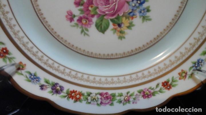 Antigüedades: Pareja de platos años 60 -70 .Decorados y retocados a mano . Marcados Royal Copenhagen - Foto 5 - 124158875