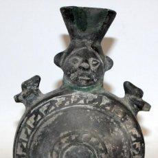 Antigüedades: BOTIJO EN CERAMICA NEGRA. CANTARO. FINALES SIGLO XIX. DESCONOZCO MANUFACTURA... Lote 124182815
