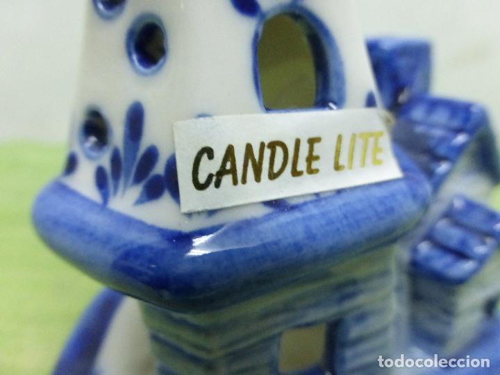 Antigüedades: PRECIOSO PORTAVELAS porcelana delft (holanda) candle lite-figura de una casita - Foto 6 - 124216519