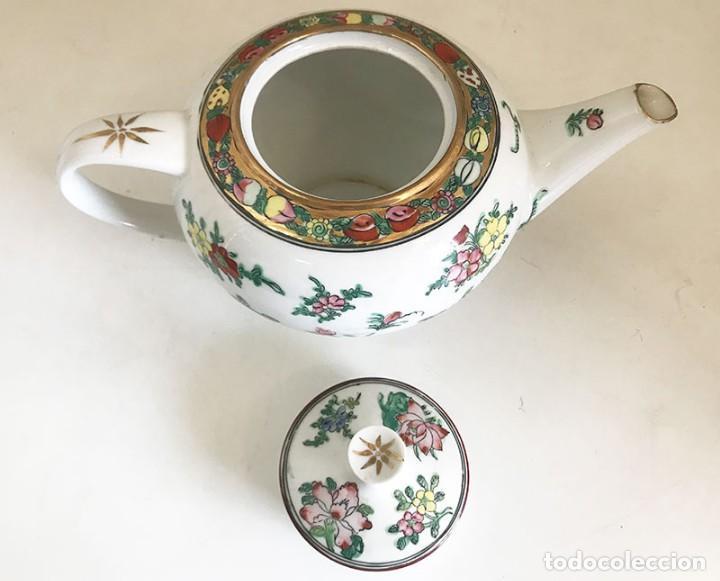 Antigüedades: JUEGO TE Ó CAFE 12 SERVICIOS FINA PORCELANA CHINA, SELLO ROJO, CASCARA DE HUEVO - Foto 8 - 124219183