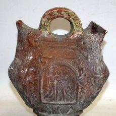 Antigüedades: BOTIJO EN CERAMICA LIGERAMENTE VIDRIADA. PRINCIPIOS SIGLO XX (ESTILO MODERNISTA). Lote 124248243