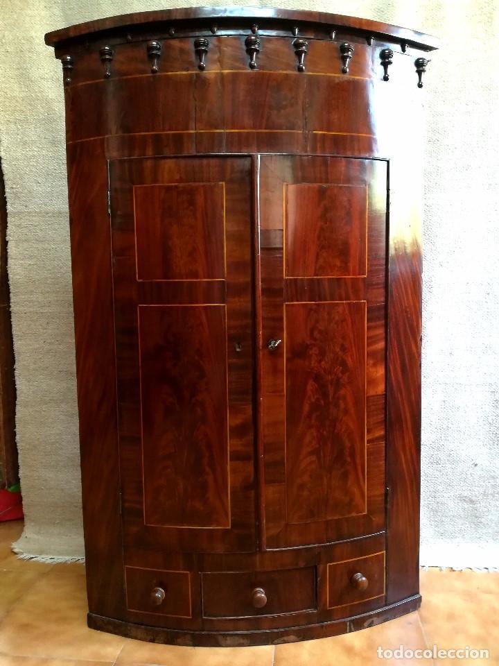 RINCONERA DE CAOBA VICTORIANA S XIX (Antigüedades - Muebles Antiguos - Armarios Antiguos)