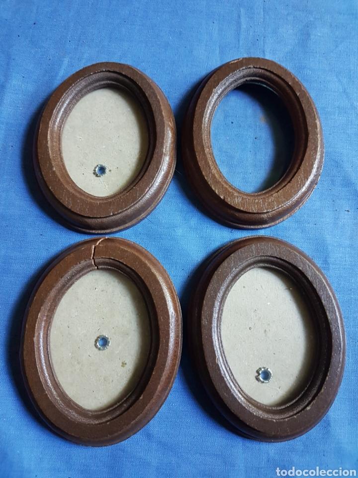 4 pequeños marcos redondos madera - Comprar Marcos Antiguos de ...
