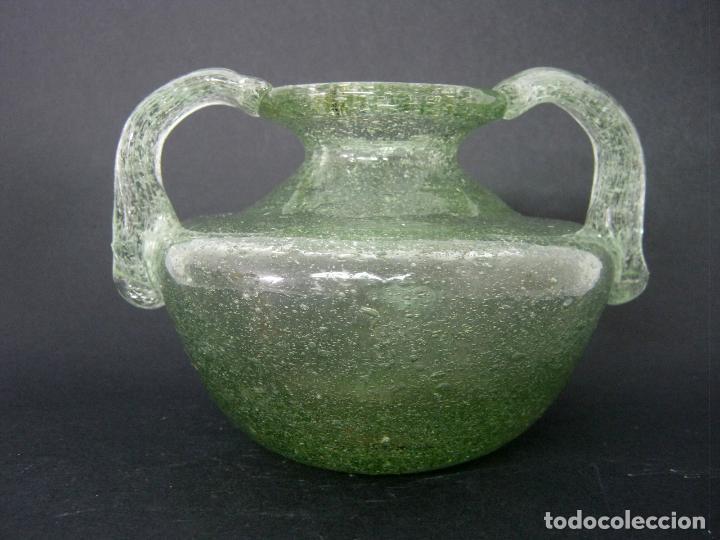 18 CM - ORZA UNGÜENTARIO CRISTAL SOPLADO 900 GR. (Antigüedades - Cristal y Vidrio - Otros)