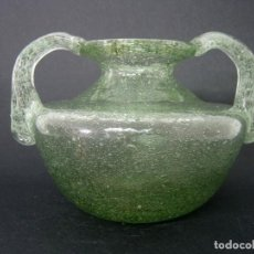 Antigüedades: 18 CM - ORZA UNGÜENTARIO CRISTAL SOPLADO 900 GR.. Lote 124301467