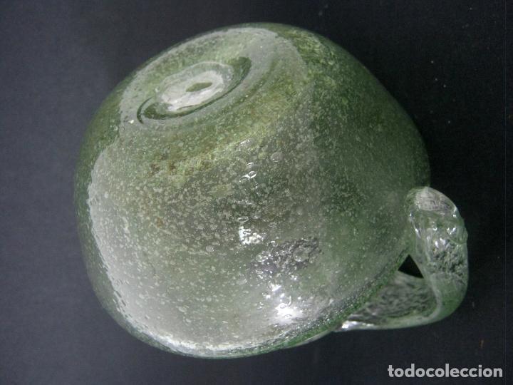 Antigüedades: 18 cm - orza ungüentario cristal soplado 900 gr. - Foto 4 - 124301467