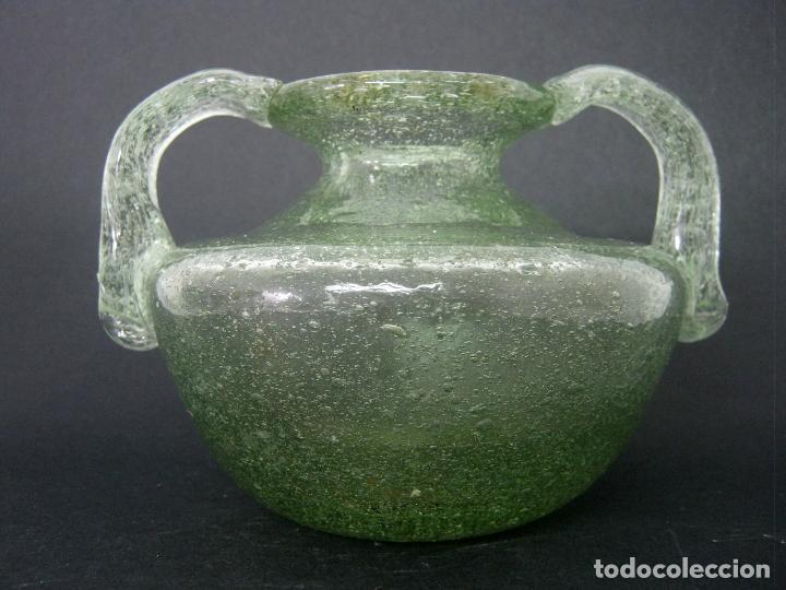 Antigüedades: 18 cm - orza ungüentario cristal soplado 900 gr. - Foto 5 - 124301467