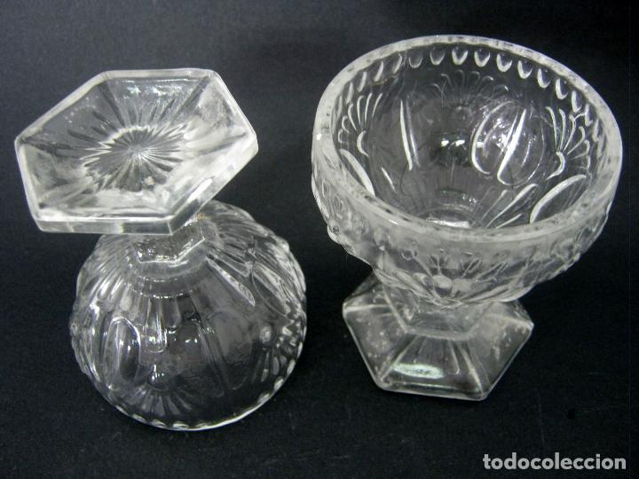 Antigüedades: pareja de antiguas bellas copas de cristal Cartagena - Foto 2 - 124304971