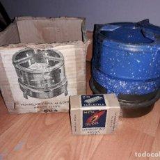 Antigüedades: ANTIGUO HORNILLO CON PASTILLAS ALCOHOL. Lote 124318179