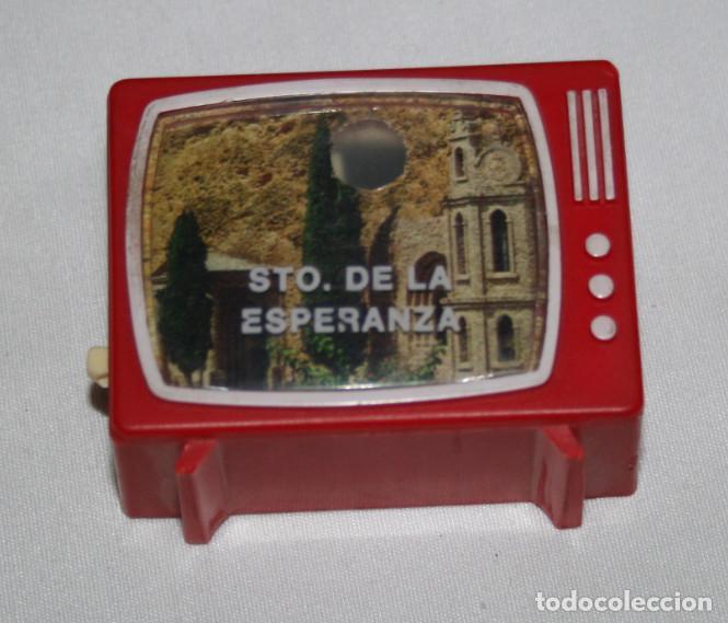 ANTIGUO VISOR DE DIAPOSITIVAS FORMA DE TELEVISION SANTUARIO DE LA ESPERANZA, CALASPARRA, TELEVISOR (Antigüedades - Varios)