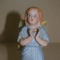 Antigüedades: ANGEL EN BISCUIT POLICROMADO . Lote 124329575