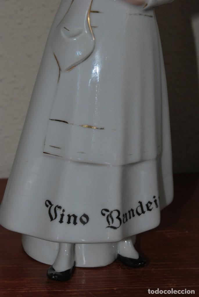 Antigüedades: BOTELLA DE VINO BANDEIRA - PORCELANA SANTA CLARA VIGO - ÁLVAREZ - Foto 3 - 124384571