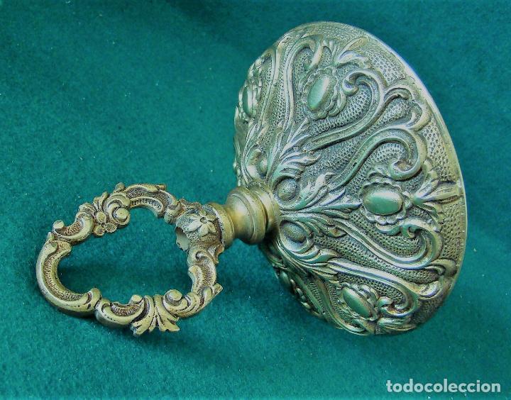 Antigüedades: GRAN FLORON DE BRONCE DORADO ANTIGUO PARA COLGAR LAMPARA. 14 CM. DIAMETRO. - Foto 7 - 124430439
