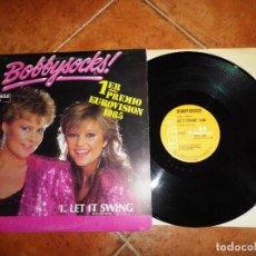 Discos de vinilo: BOBBYSOCKS LET IT SWING / LA DET SWINGE FESTIVAL EUROVISION NORUEGA 1985 MAXI SINGLE VINILO 2 TEMAS. Lote 124434859