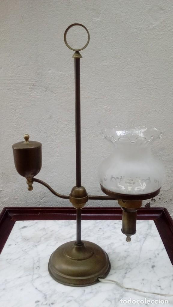 LAMPARA MODERNISTA SOBREMESA (Antigüedades - Iluminación - Lámparas Antiguas)