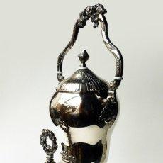 Antigüedades: IMPRESIONANTE SAMOVAR GRANDE ANTIGUO MODERNISTA CALENTADOR AGUA O TE RUSO ALPACA FIRMADA SIGLO XIX. Lote 81690016