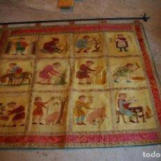 Antigüedades: TAPIZ HECHO A MANO. 1,415 X 1.21 M. Lote 124441543