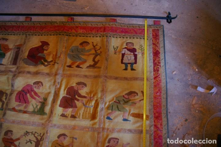 Antigüedades: tapiz hecho a mano. 1,415 x 1.21 m - Foto 2 - 124441543