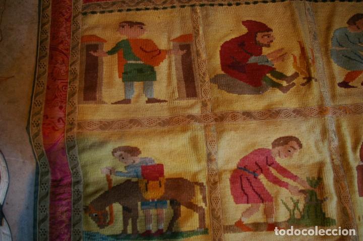 Antigüedades: tapiz hecho a mano. 1,415 x 1.21 m - Foto 7 - 124441543