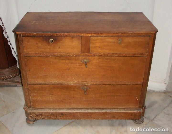 ANTIGUA CÓMODA O COMODÍN DE PINO. S.XIX. (Antigüedades - Muebles - Cómodas Antiguas)