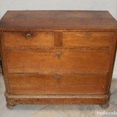 Antigüedades: ANTIGUA CÓMODA O COMODÍN DE PINO. S.XIX.. Lote 124442243