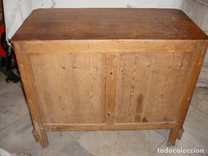 Antigüedades: Antigua Cómoda o Comodín de Pino. S.XIX. - Foto 4 - 124442243