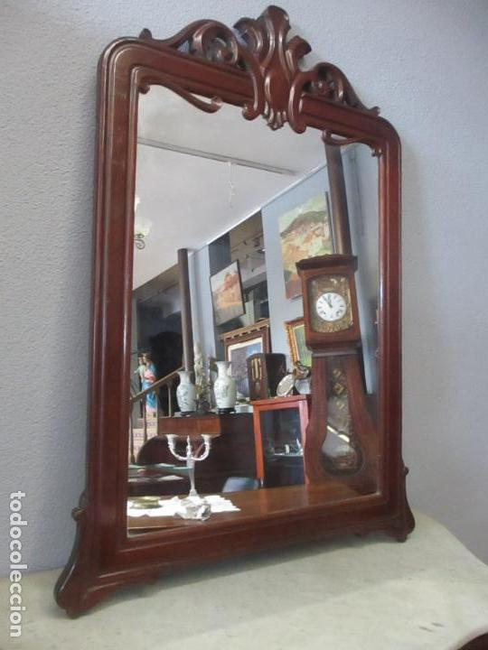 Antigüedades: Consola Isabelina (Ditada) - Bonito Espejo - Madera de Caoba - Mármol - con Cajón - S. XIX - Foto 13 - 124447911