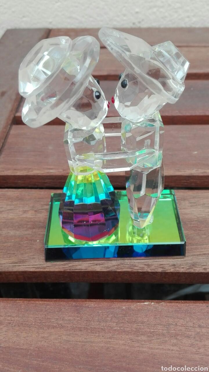 FIGURA CRISTAL PAREJA ENAMORADOS NOVIOS USADO (Antigüedades - Cristal y Vidrio - Swarovski)