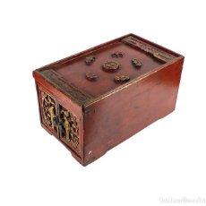Antigüedades: MUEBLE AUXILIAR ORIENTAL O JOYERO DE MADERA CON DIFERENTES COMPARTIMENTOS -SIGLO XX. Lote 124470739