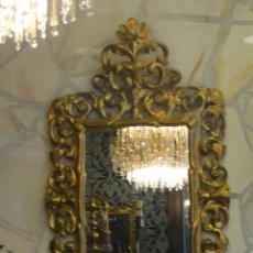 Antigüedades: ESPEJO DE MADERA CON PAN DE ORO FINALES DEL XIX, PRINCIPIOS DEL XX.. Lote 124502175