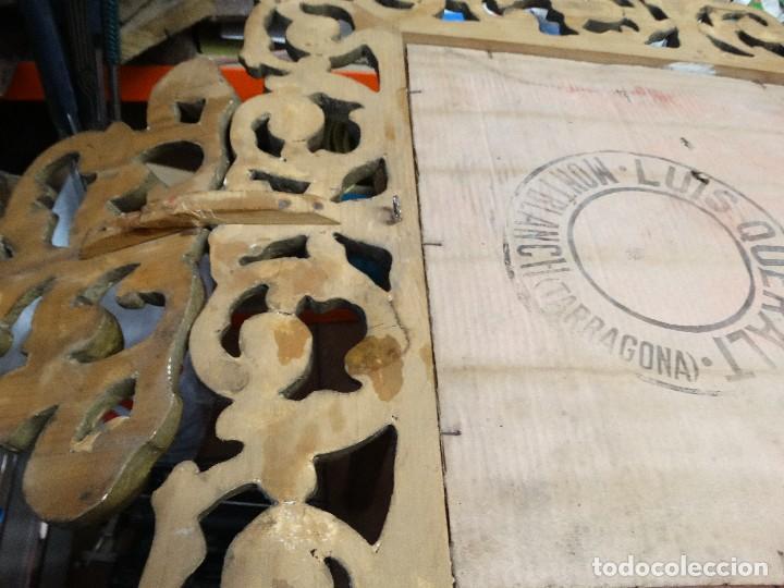 Antigüedades: ESPEJO DE MADERA CON PAN DE ORO FINALES DEL XIX, PRINCIPIOS DEL XX. - Foto 3 - 124502175