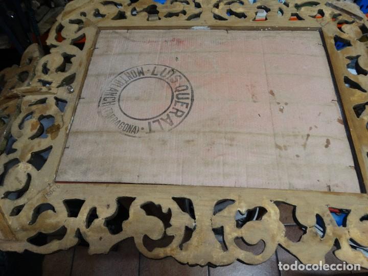 Antigüedades: ESPEJO DE MADERA CON PAN DE ORO FINALES DEL XIX, PRINCIPIOS DEL XX. - Foto 4 - 124502175