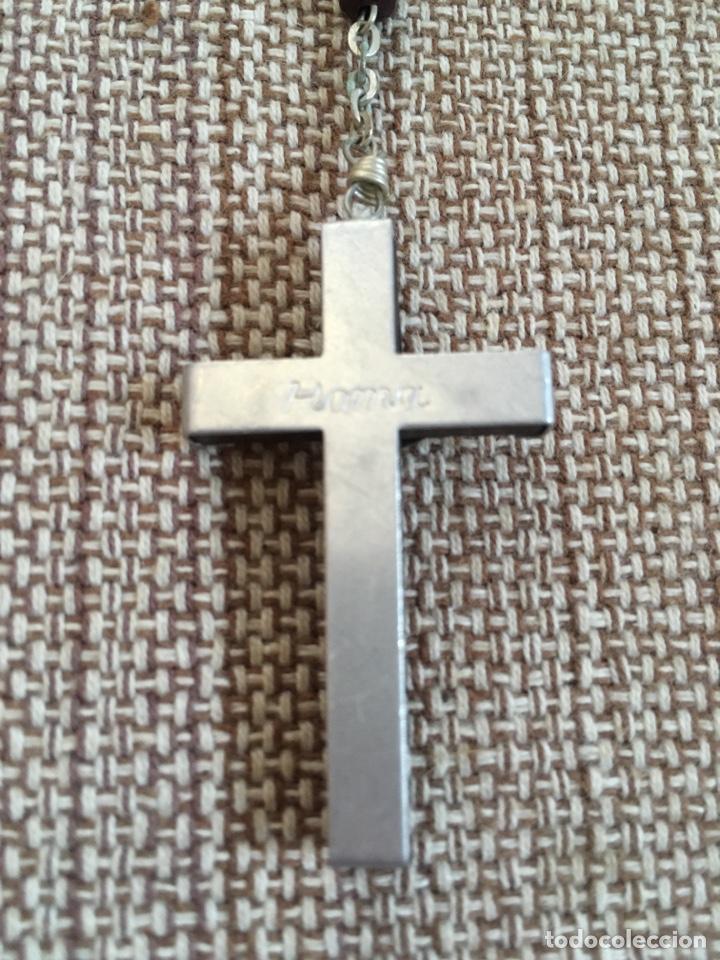 Antigüedades: Rosario con cuentas y cruz de madera - Foto 3 - 124502330