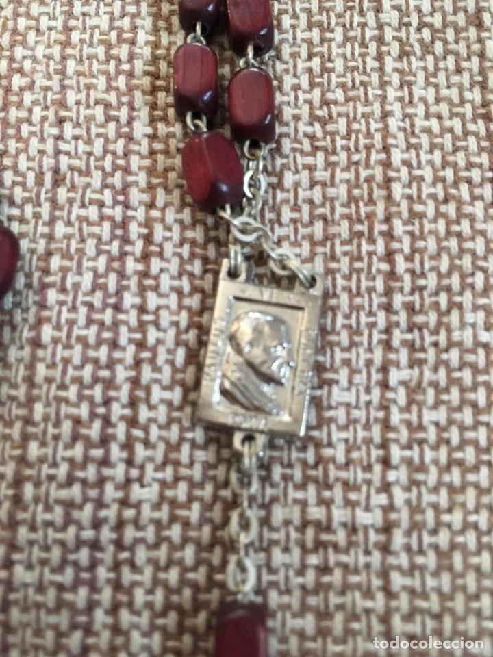 Antigüedades: Rosario con cuentas y cruz de madera - Foto 4 - 124502330