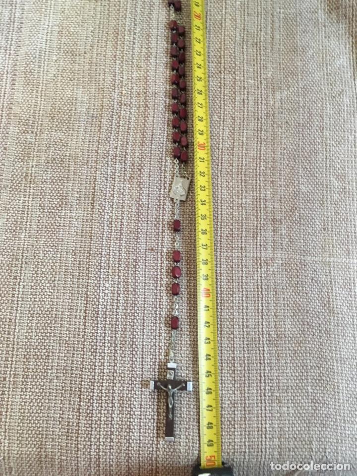 Antigüedades: Rosario con cuentas y cruz de madera - Foto 6 - 124502330