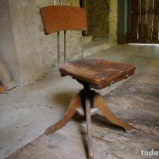 Antigüedades: SILLA INDUSTRIAL GIRATORIA. Lote 124528491