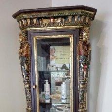 Antigüedades: MUEBLE EGYPCIO DE MADERA Y PUERTA CON CRISTAL. PRECIOSO Y EXCLUSIVO. Lote 124532551