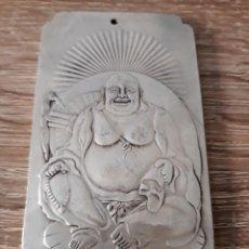 Antigüedades: ANTIGUO LINGOTE DE BUDA DE PLATA TIBETANA 150 GRAMOS. Lote 124538863