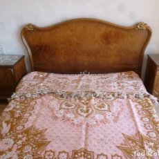 Antigüedades: DORMITORIO DE MATRIMONIO AÑOS 45-50, DEL EBANISTA MARIANO GARCIA. Lote 124540579