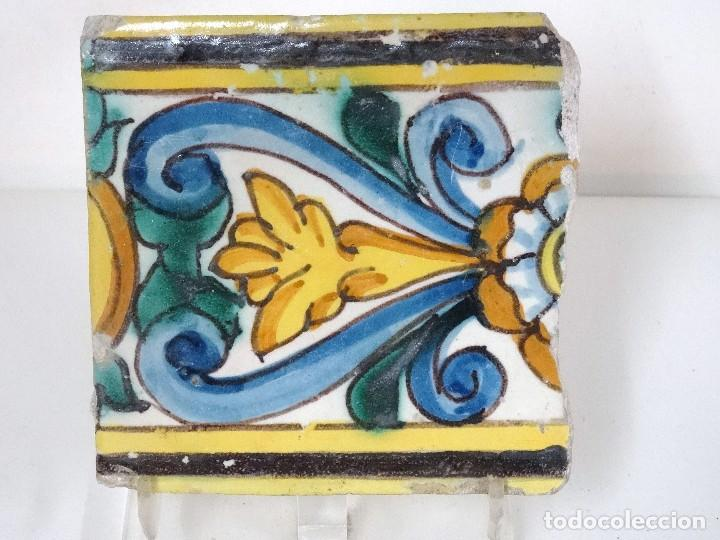 Antigüedades: Pareja de azulejos de cenefa catalanes S.XVII - Foto 5 - 124541931